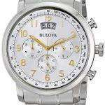 Bulova Chronograph Silver Dial 96B201 Mens Watch