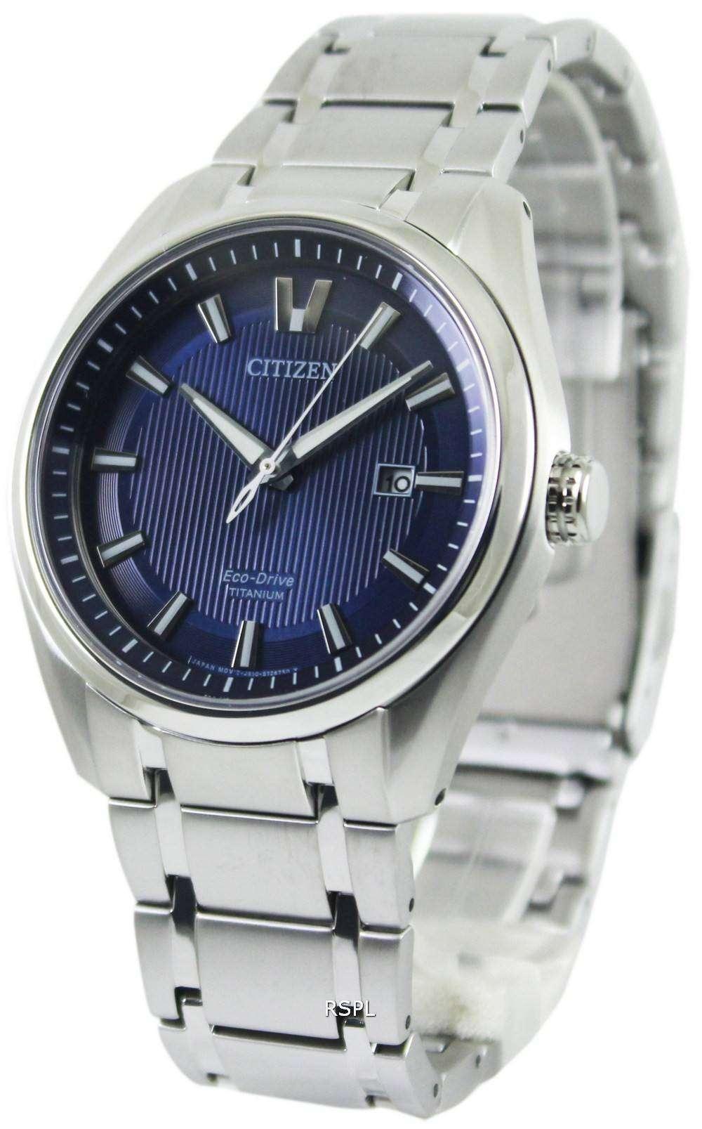 Citizen eco drive titanium aw1240 57l mens watch zetawatches for Citizen eco dive