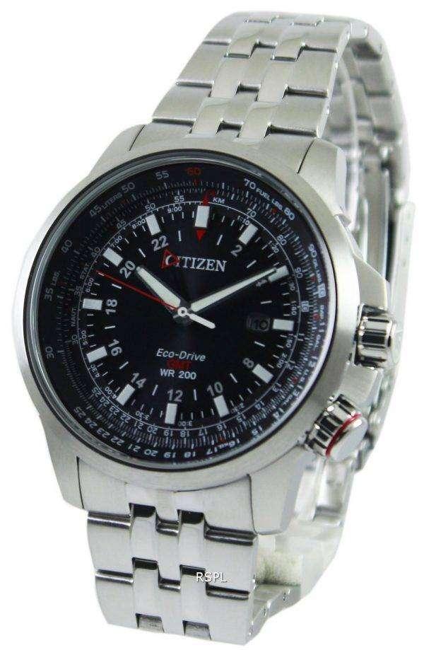 Citizen Promaster Pilot Eco-Drive GMT 200M BJ7070-57E Mens Watch