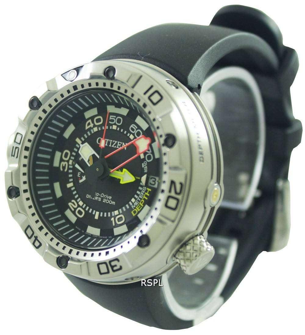 Citizen Promaster Aqualand Eco-Drive Divers BN2021-03E Mens Watch ... 9465d30a020