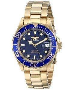 Invicta Pro Diver 200M Gold Tone Blue Dial INV8930/8930 Mens Watch
