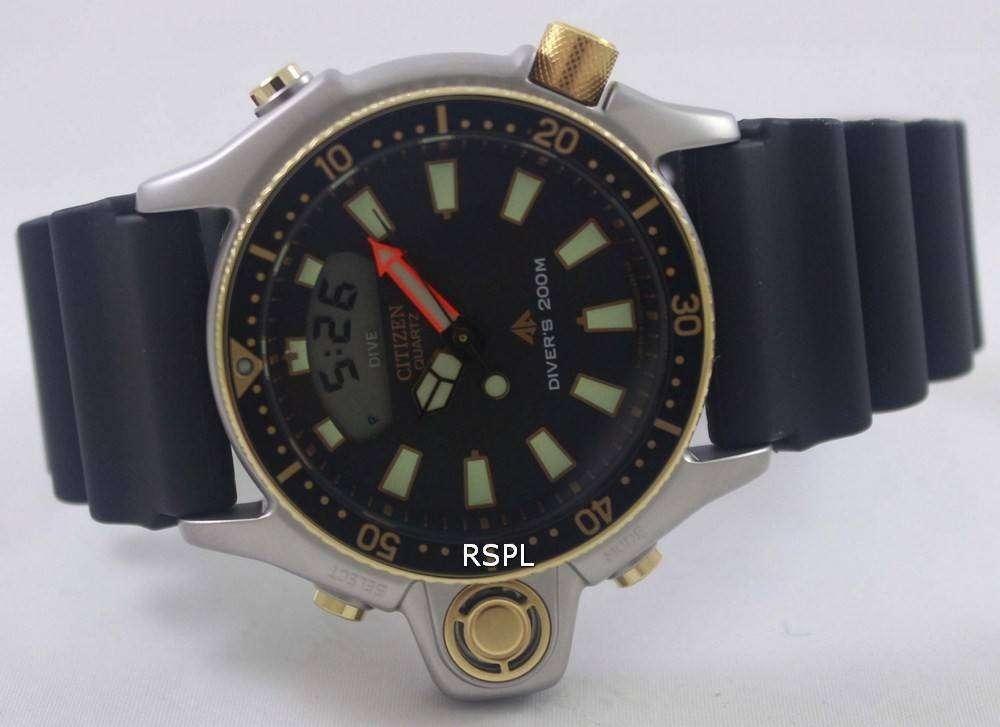 Citizen aqualand diver depth meter promaster jp2004 07e jp2004 mens watch zetawatches - Citizen promaster dive watch ...