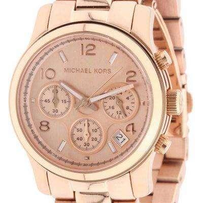 Michael Kors Rose Gold Runway Chronograph MK5128 Womens Watch