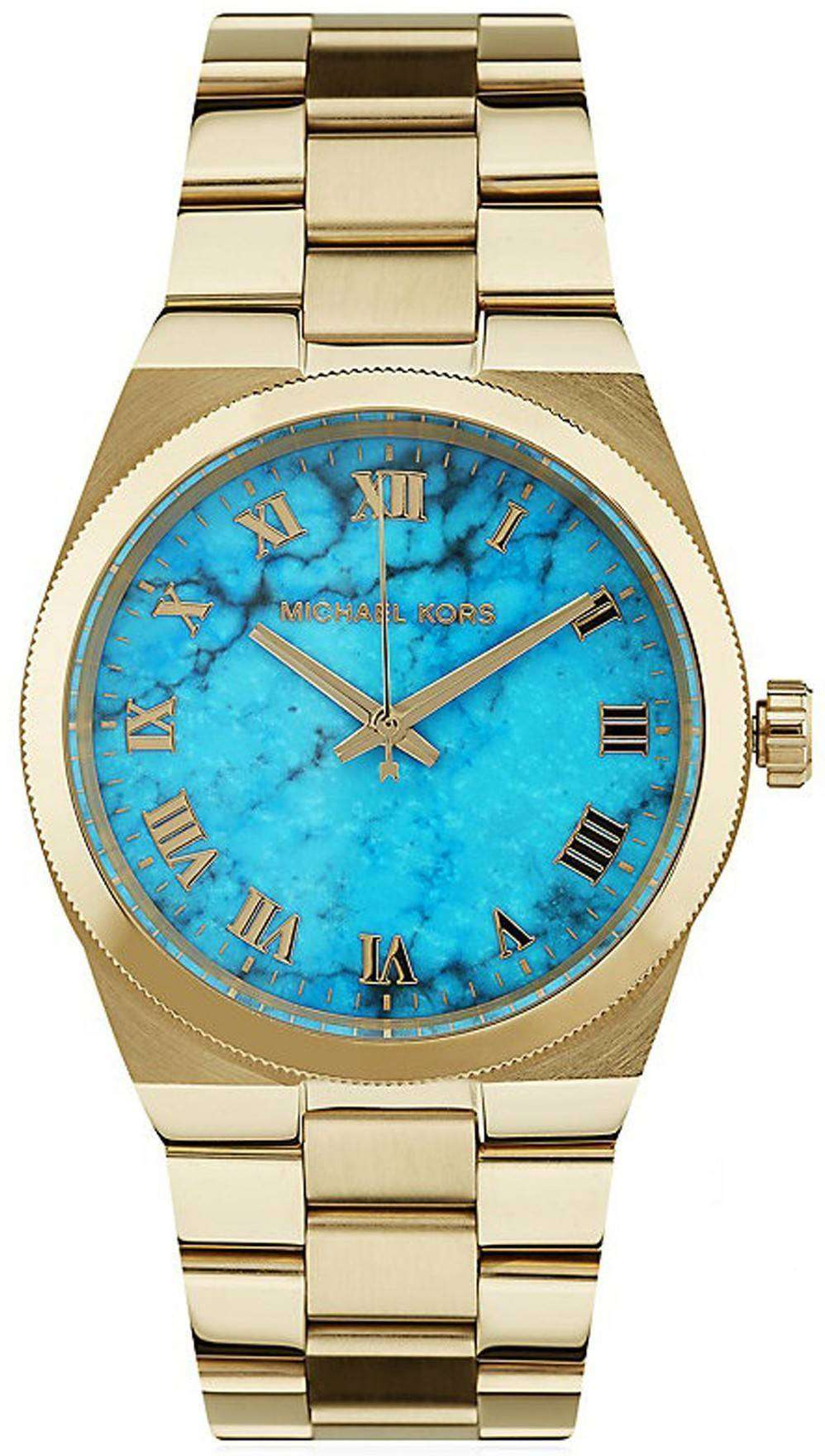 c3bf8c260239 Michael Kors Channing Turquoise Dial MK5894 Womens Watch - ZetaWatches