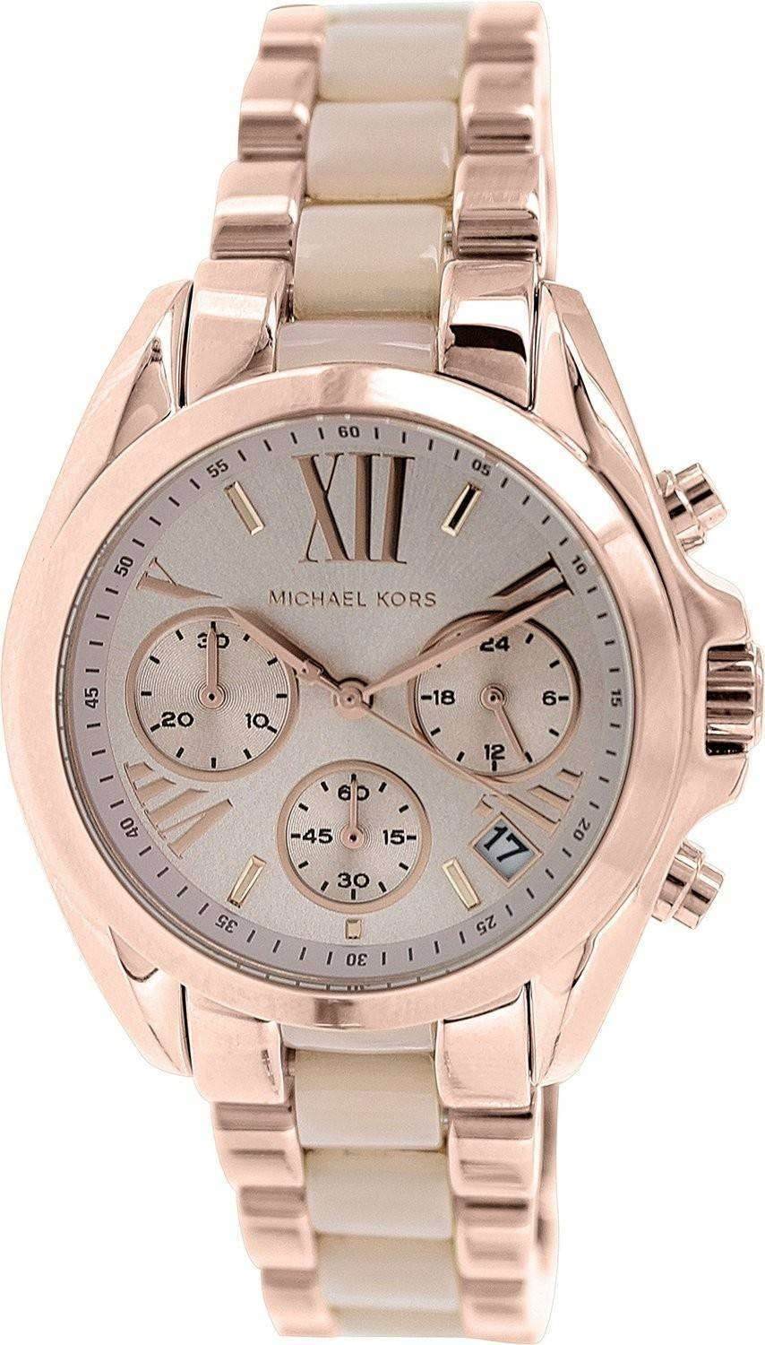 331f451aaf7 Michael Kors Bradshaw Mini Chronograph MK6066 Womens Watch - ZetaWatches