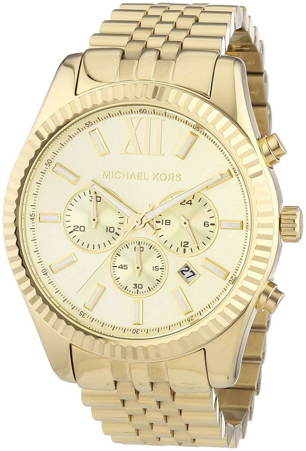 Buy Michael Kors MK Gold-Tone Men's Watch and other Wrist Watches at techriverku3.gq Our wide selection is eligible for free shipping and free returns.