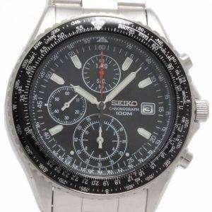Seiko Chronograph Sliding Rule Pilots Flightmaster Mens Watch SND253P1