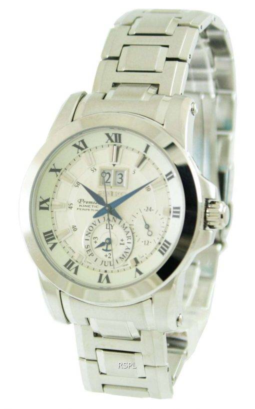 Seiko Premier Kinetic Perpetual SNP091P1 SNPO91P SNPO91 Mens Watch