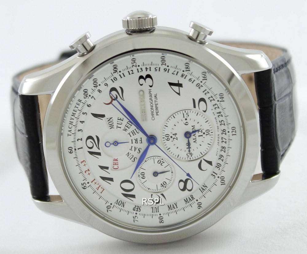 Perpetual Calendar Chronograph : Seiko chronograph perpetual calendar spc p mens