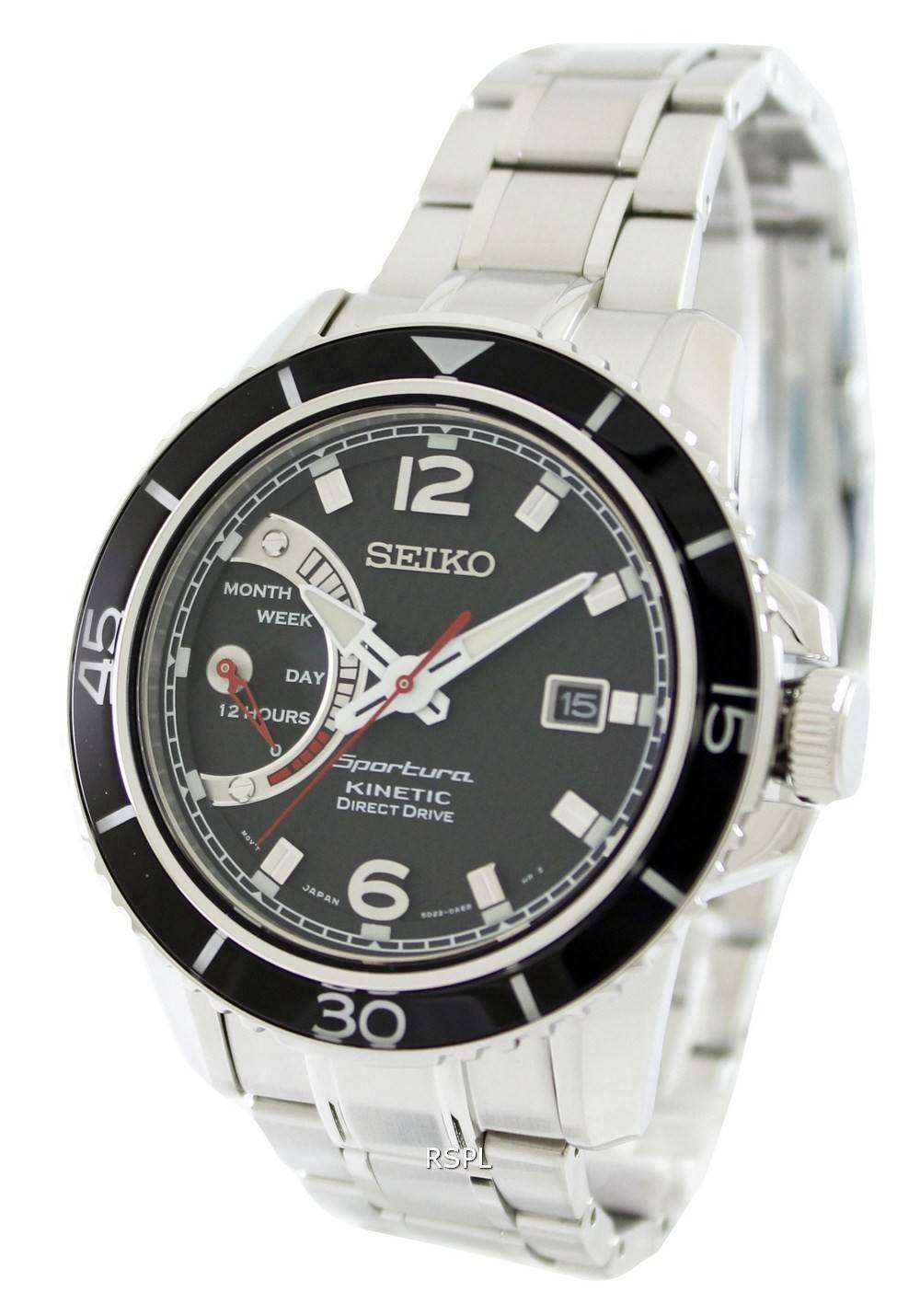 Seiko sportura kinetic direct drive srg019p1 srg019p srg019 mens watch zetawatches for Watches direct