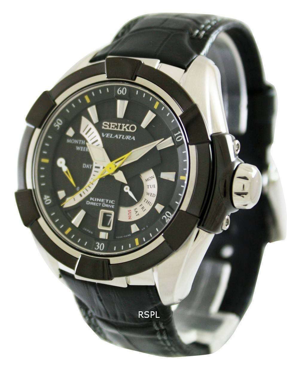 Seiko velatura kinetic direct drive srh015p2 mens watch zetawatches for Watches direct