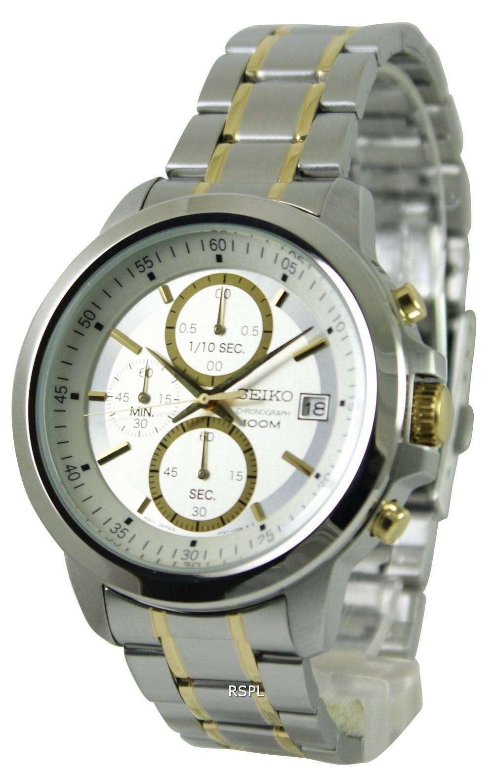 seiko chronograph quartz two tone sks447p1 sks447p sks447