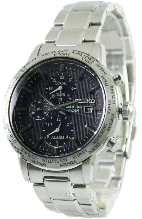 Seiko Alarm Chronograph World Time SPL049P1 SPL049P SPL049 Mens Watch