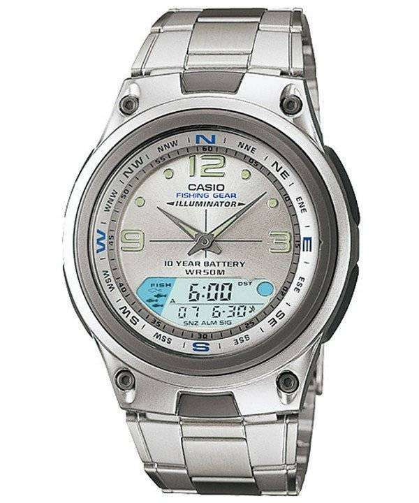 Casio analog digital out gear fishing illuminator aw 82d for Casio fishing watch