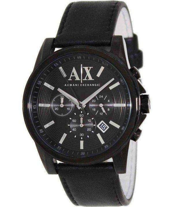 Armani Exchange Chronograph Black Dial AX2098 Mens Watch