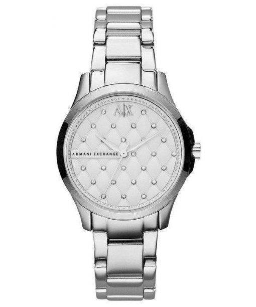 Armani Exchange Silver Crystal Quilted Dial AX5208 Womens Watch