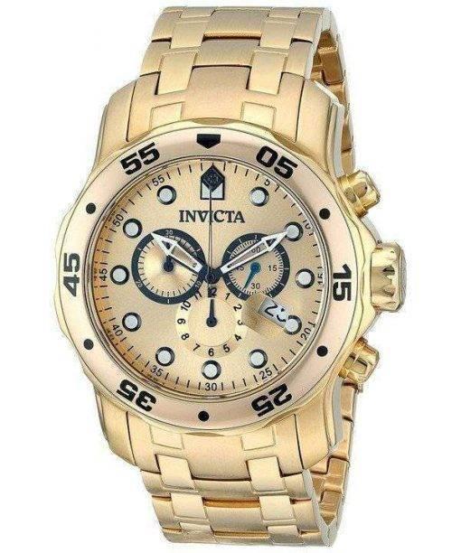 Invicta Pro-Diver Chronograph Gold Dial INV0074/0074 Mens Watch