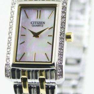 Citizen Quartz Swarovski Crystals EK1124-54D Womens Watch