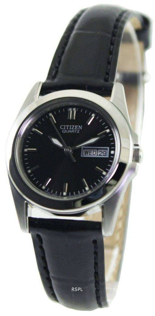 Citizen Quartz Black Dial EQ0560-09E Womens Watch