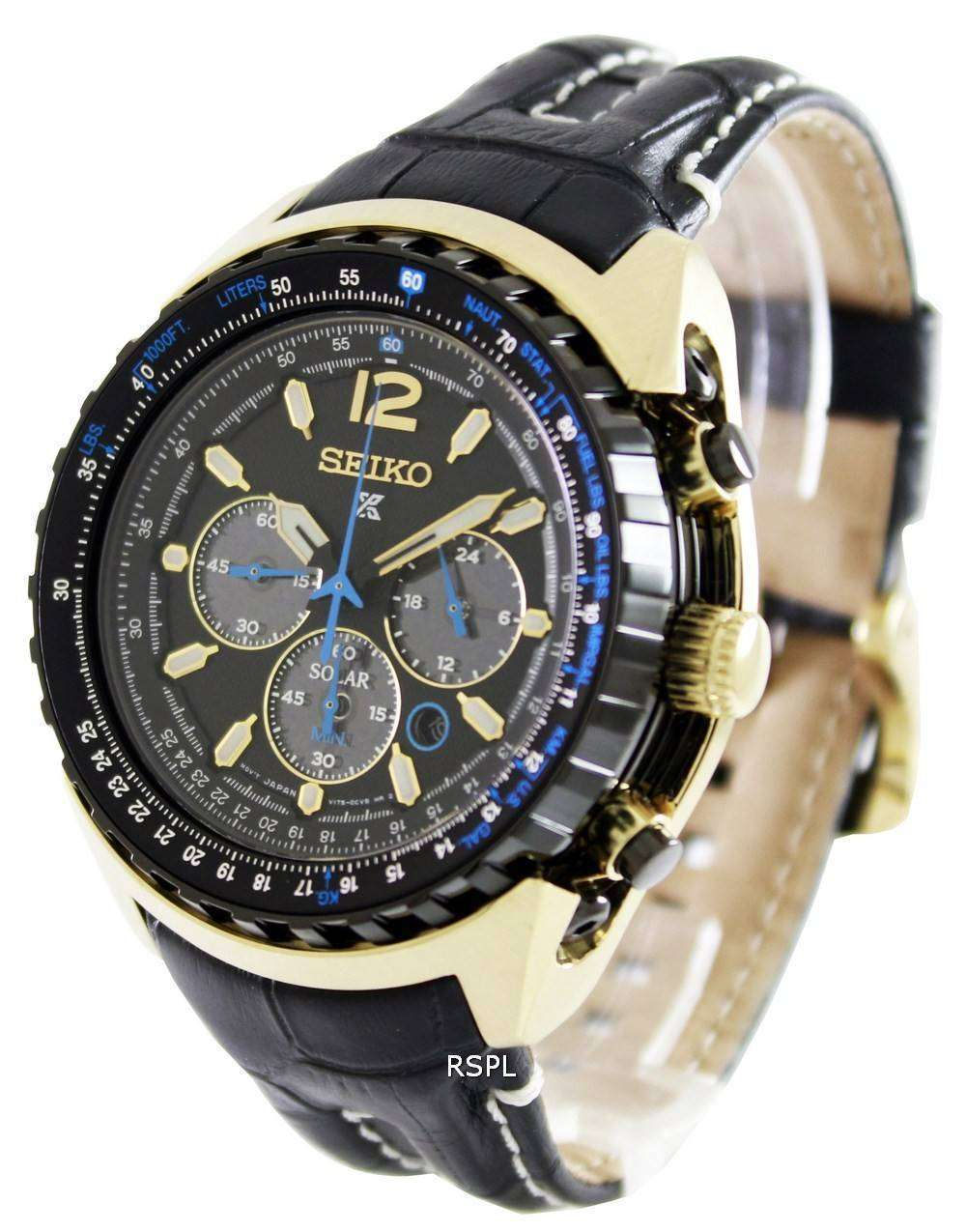1dd68f8cc Seiko Prospex Aviation Solar Pilots SSC264P1 Mens Watch - ZetaWatches