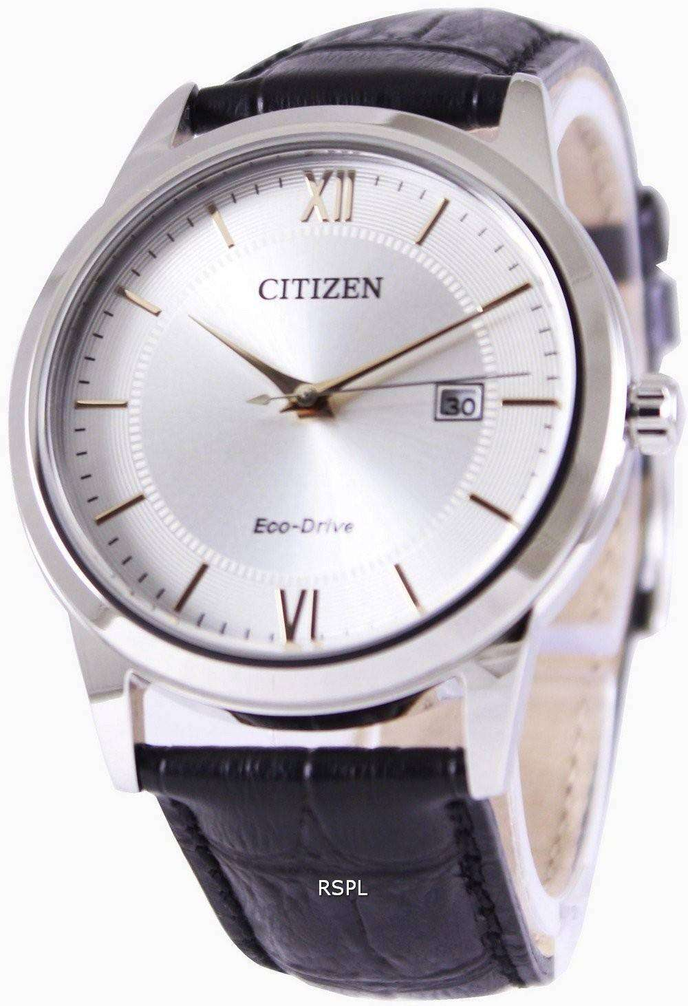 Citizen Eco Drive Silver Dial Aw1236 11a Mens Watch