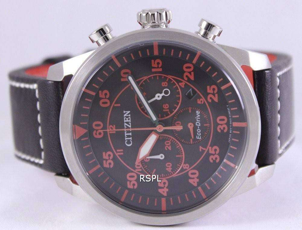 huge selection of 662b3 19447 Citizen Eco-Drive Aviator Chronograph CA4210-08E Mens Watch
