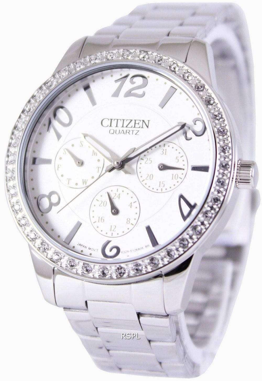 Citizen quartz swarovski crystals ed8120 54a womens watch zetawatches for Swarovski crystals watch
