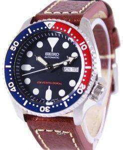 Seiko Automatic Divers Brown Leather SKX009K1-LS1 200M Mens Watch