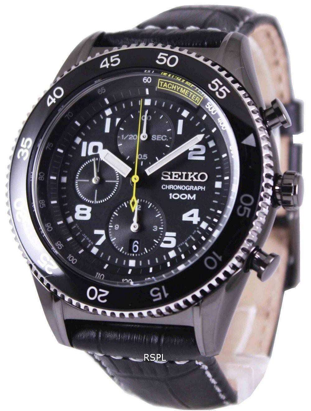 Seiko Chronograph Tachymeter 100M SNDG61P1 SNDG61P Mens Watch ... 695ea1a411ce