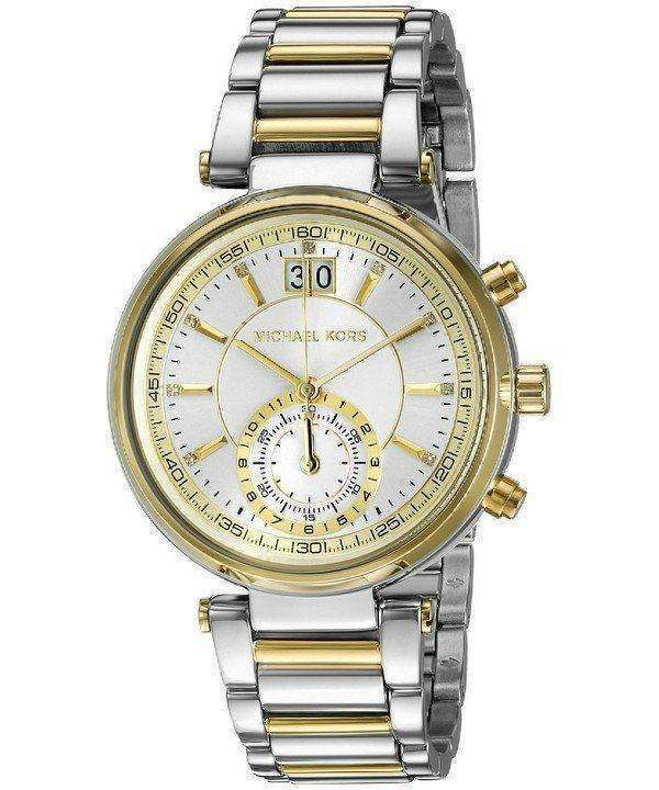 bd4b644317a8 Michael Kors Sawyer Silver Dial MK6225 Womens Watch - ZetaWatches