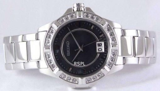 Seiko Quartz Crystals Black Dial SUR807P1 SUR807P Women's Watch