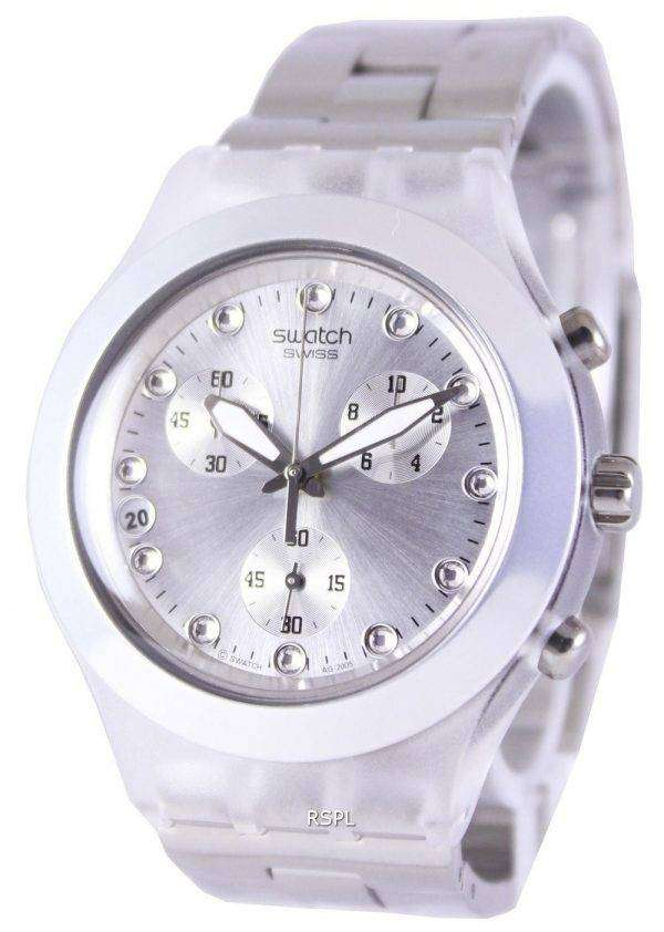 Swatch Irony Diaphane Full-Blooded Silver Chronograph SVCK4038G Unisex Watch