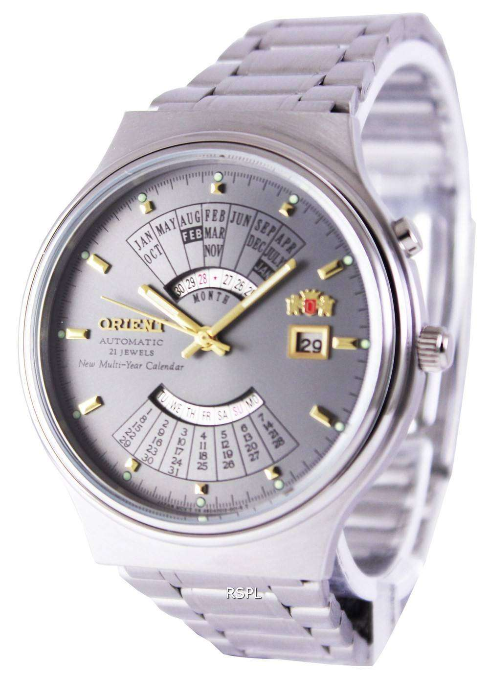 5011b2314 Orient Automatic 21 Jewels Multi Year Calendar FEU00002KW Men's Watch