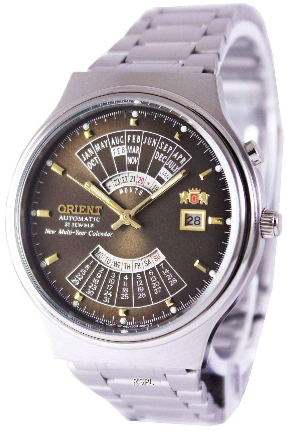 Orient Automatic 21 Jewels Multi Year Calendar Feu00002tw
