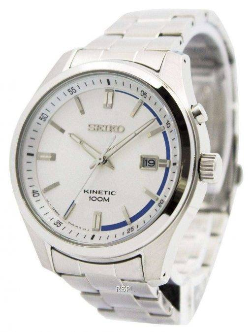 Seiko Kinetic Silver Dial 100M SKA717P1 SKA717P Men's Watch