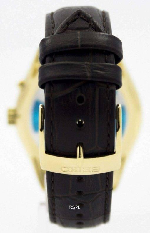Seiko Kinetic Brown Leather Strap SRN074P1 SRN074P Mens Watch