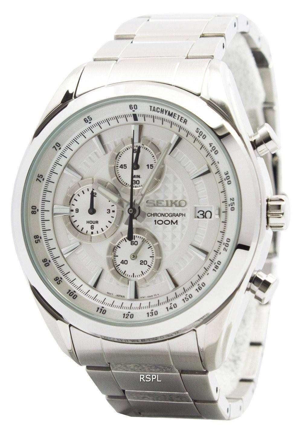 Seiko Chronograph Jam Tangan Tali Stainless Steel Silver Ssb173p1 Strap Sks521p1 Quartz Ssb173p Mens Watch