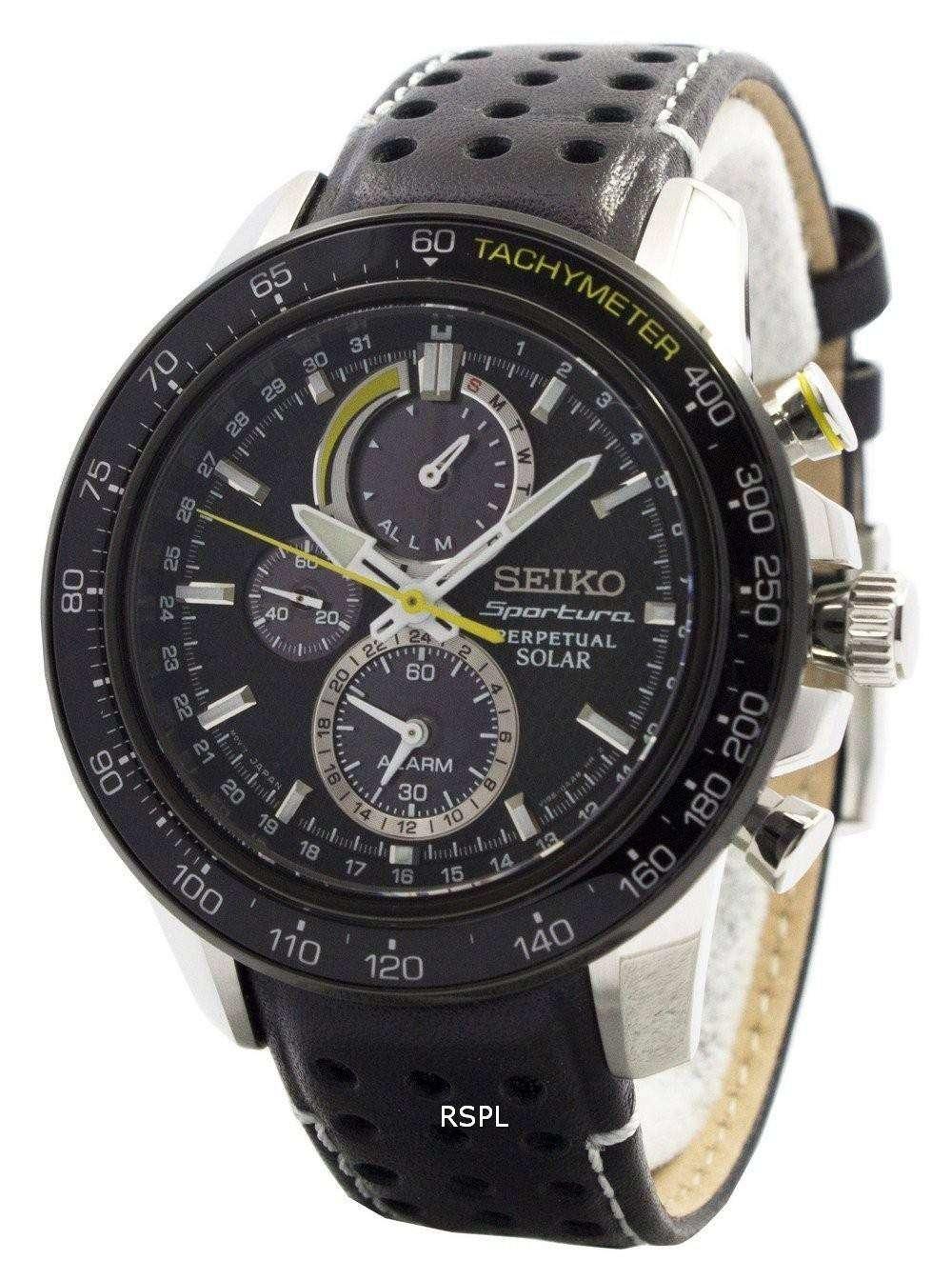 63edd544f Seiko Sportura Solar Chronograph Perpetual SSC361P1 SSC361P Mens Watch