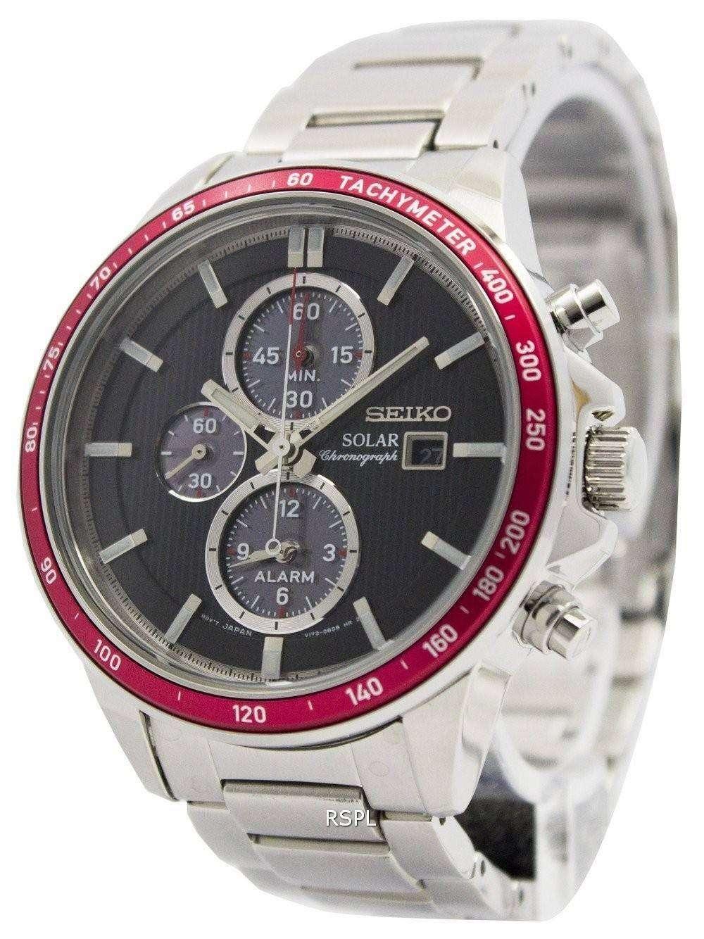 6677cbac1e8 Seiko Solar Chronograph Alarm SSC433P1 SSC433P Men s Watch - ZetaWatches