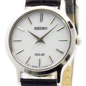 Seiko Solar White Dial Leather Strap SUP299P1 SUP299P Womens Watch