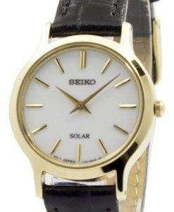 Seiko Solar White Dial Leather Strap SUP300P1 SUP300P Womens Watch