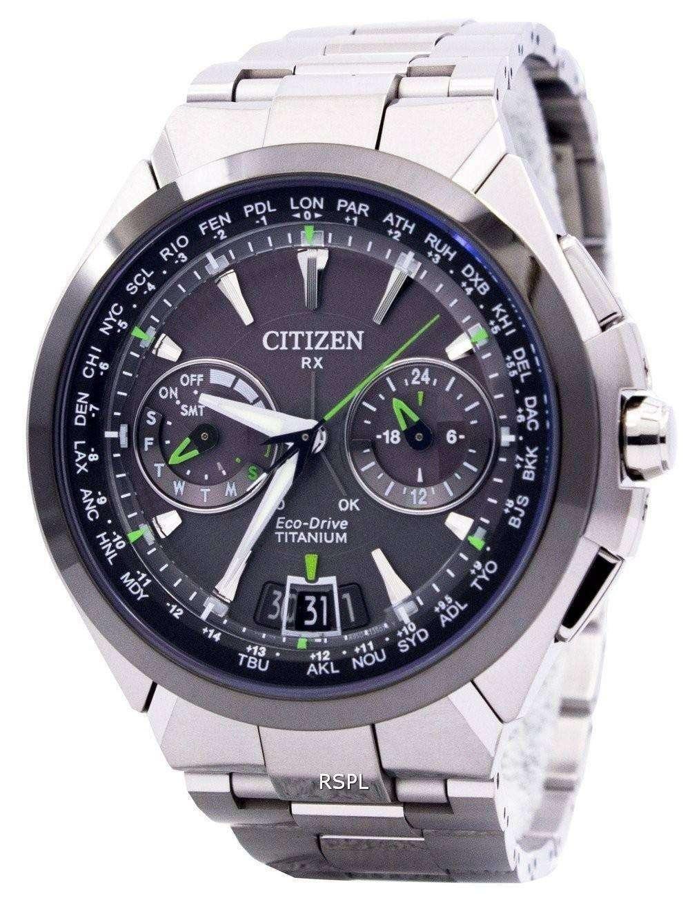 24639057938 Citizen Eco-Drive Attesa Titanium Satellite Wave Air GPS 100M CC1086-50E  Mens Watch