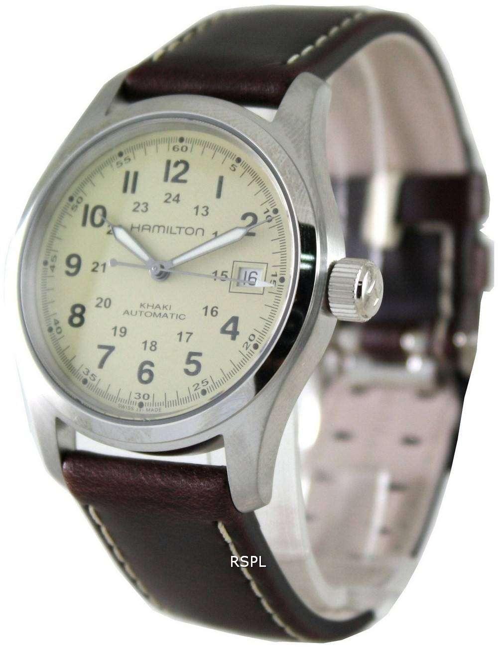 5e4f0e4de35 Hamilton Khaki Field Automatic H70455523 Mens Watch - ZetaWatches