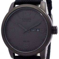 Citizen Eco Drive Black Nylon Strap BM8475-00F Mens Watch