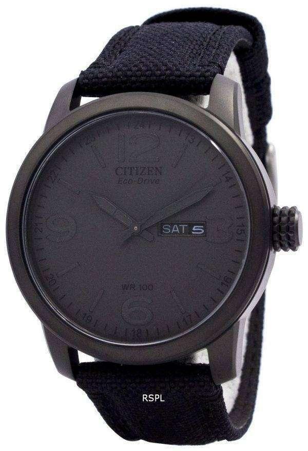 Citizen Eco Drive Black Nylon Strap BM8475-00F Mens Watch