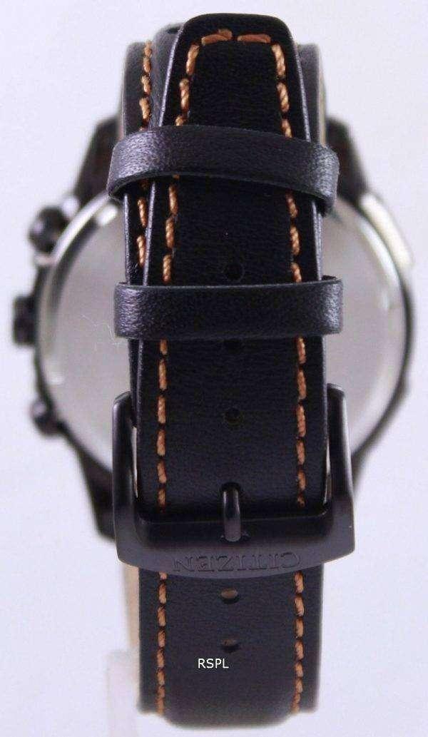 Citizen Eco Drive Leather Chronograph CA0375-00E