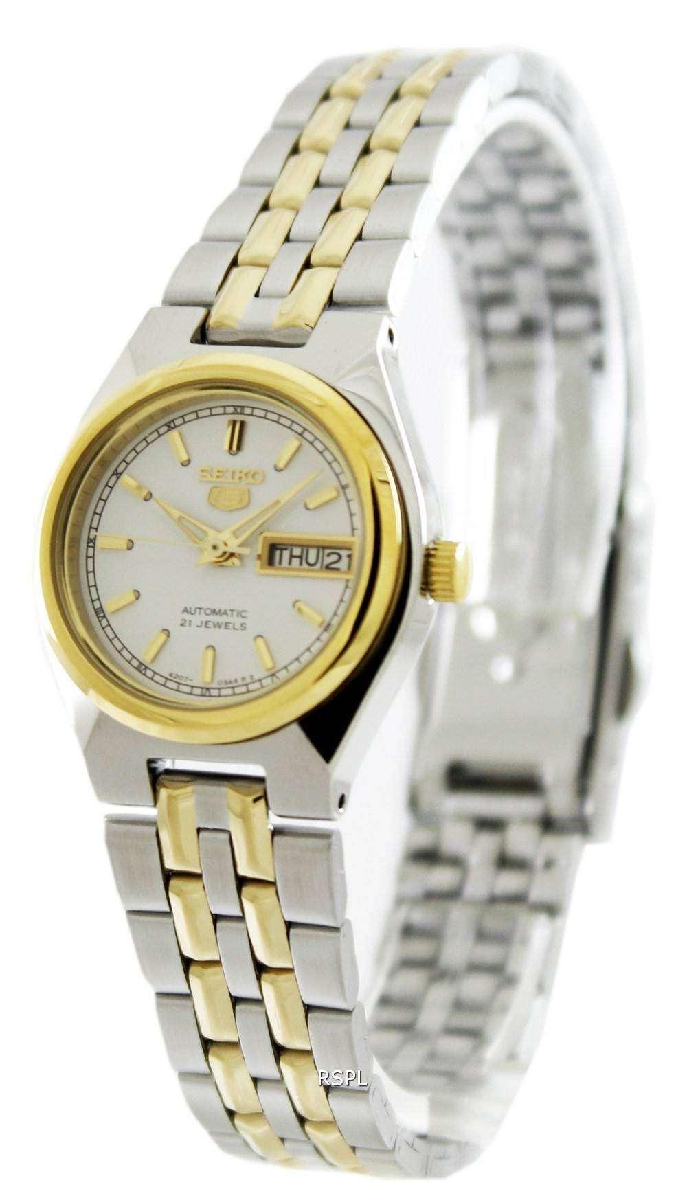 Seiko 5 Automatic 21 Jewels Sym796 Sym796k1 Sym796k Womens Watch Zetawatches