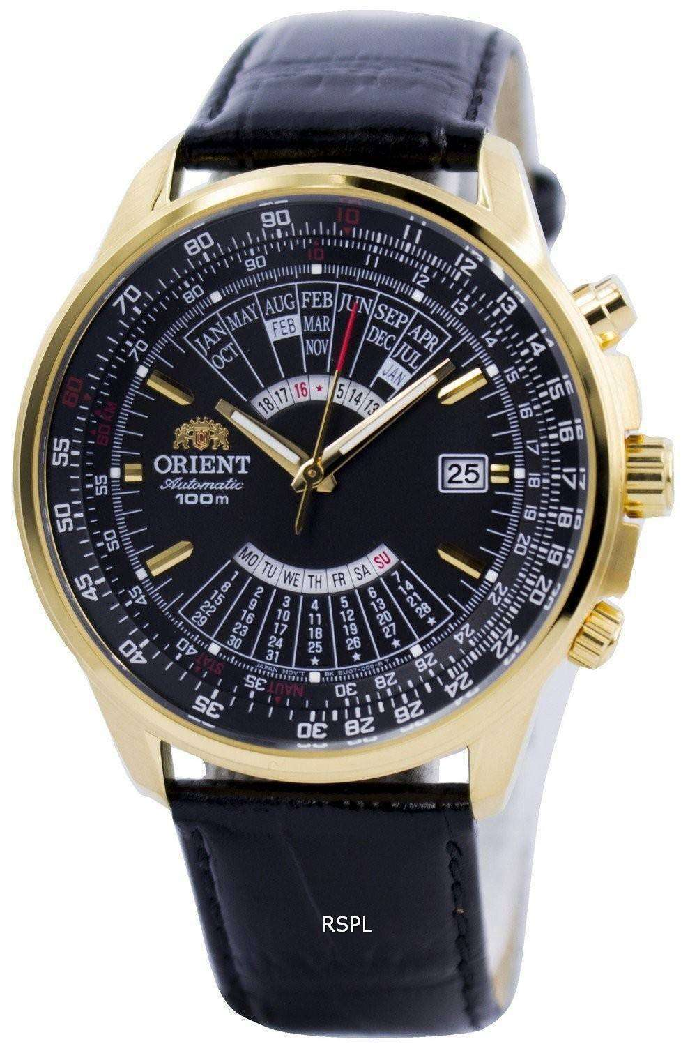 e0e6995b6 Orient Automatic Multi Year Calendar 100M FEU07009BH Mens Watch ...