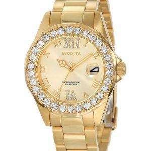 Invicta Pro Diver Crystal Accented Quartz 200M 15252 Womens Watch