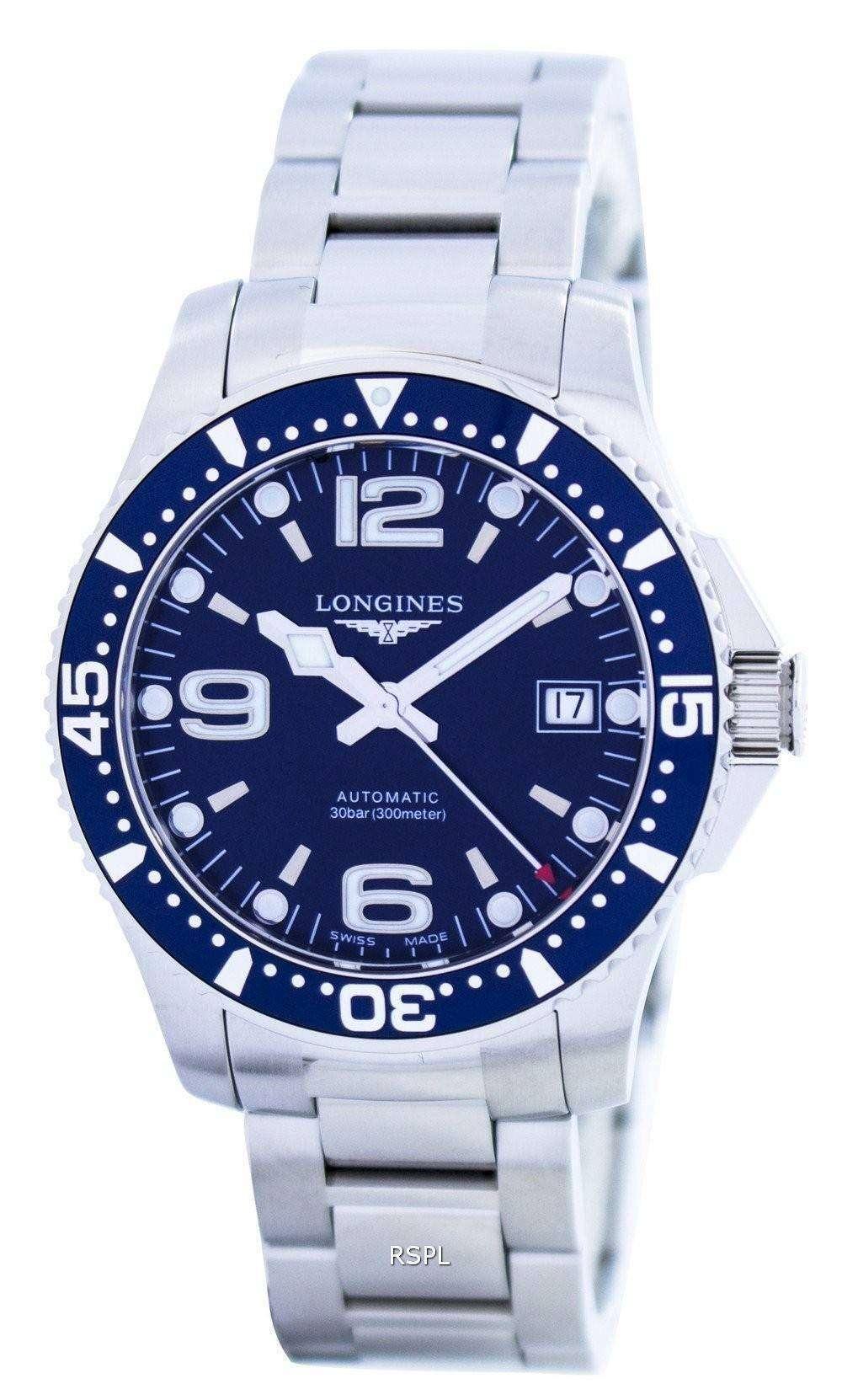 Longines Hydroconquest Automatic >> Longines Hydroconquest Automatic Power Reserve L3 641 4 96 6 Mens Watch